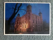 vintage the Tower of London, the white tower postcard
