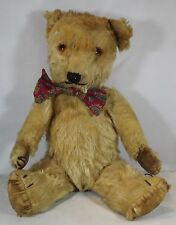 "VINTAGE 1940s/50s 14"" JOINTED MOHAIR CHILTERN HUG-ME TEDDY BEAR ENGLISH"
