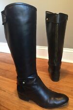 Corso Como Womens Black Leather Tall Riding Boot Back Zip Detail Sz 8 Sussex