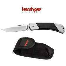 Kershaw Officer Ranch Black Gulch Med Lock Back Knife w/ Sheath 3120X Buck 112