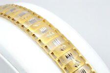 """7"""" ESTATE DESIGN WIDE LINK FINE BRACELET REAL 18K GOLD 9.4g (GP1007531)"""