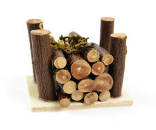 Miniature Wood Log  Pile with Moss /Fairy Gnome Hobbit Garden 50802