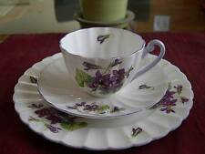 SHELLEY Fine Bone China       **VIOLETS TRIO**  #13821    Ludlow Shape