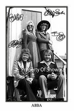 ABBA SIGNED AUTOGRAPH PRINT POSTER - GREAT PIECE OF MEMORABILIA