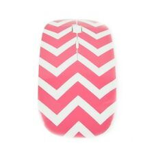 Chevron Series Pink USB Wireless Optical Mouse for All Macbook & Laptop