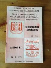 Programme Anderlecht Belgium v Arsenal London 1970 FAIRS CUP FINAL (Brussels)