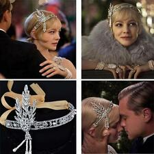 Flapper 1920's Great Gatsby Style Pearl Crown Head Hair Dress BUSC Band Bridal
