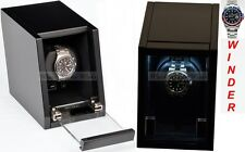 Luxury Display Single Automatic Watch Winder- model: Castle-01MB /LED Lights