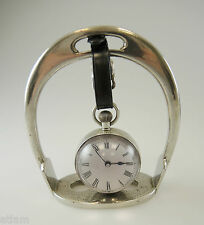 Metal STIRRUP Watch Stand with Hanging Glass Ball Watch. c1910