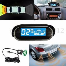 4 Parking Radar Sensor LED Display Rear View Car Reverse Backup Front System Kit