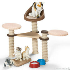 SCHLEICH 41801 Scenery Set Cat Kittens & Scratching Post Limited Collectors Ed'n