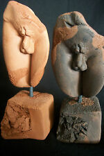 TWO NUDE MALE Figurines Ceramic Sculptures Greek Art Deco Handmade New Gift
