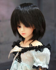 "1/6 bjd or 1/4 bjd 6-7"" doll wig black short hair dollfie W-201S"