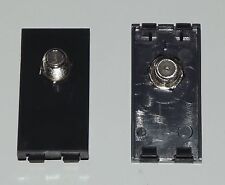 BLACK Satellite TV Female Coupler Euro Module For FacePlates / Wall Sockets SKY