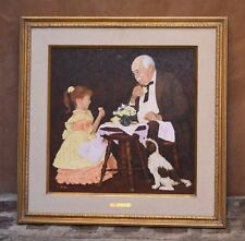 """MAGNIFICENT O/C PAINTING BY GERALD FARM AMERICAN LISTED ARTIST """"THE TEA PARTY"""""""