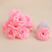 20pc Artificial Silk Roses Flower Heads Small Bud Party Wedding Decoration Craft