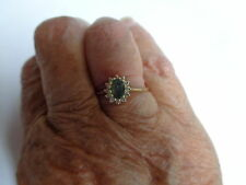 Estate Ring   .37ct Natural Color Change Alexandrite & Diamonds in 14K YG