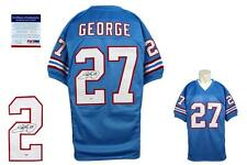 Eddie George SIGNED Jersey - PSA/DNA - Houston Oilers / Tenn Titans Autographed