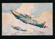 Aviation Military RAF air force DEFIANT Fighters Artist Bannister cWW2 PPC