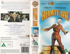 CALAMITY JANE VHS PAL DORIS DAY,HOWARD KEEL,PHILIP CAREY RARE 50'S MUSICAL NEW