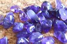 Tumbled Gemstone Natural Crystal Amethyst Chip Stone 5g With Holes DIY Art Craft