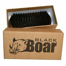 Mens Hair Brush Natural Soft Boar Bristles Wood Military Style Handle Perfect
