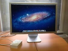 """Apple 23"""" Cinema Display A1082 Widescreen Monitor + Adaptor & Cables Complete."""