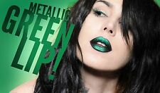 Kat Von D Studded Kiss Lipstick Plan 9 0.10 oz tube full size Green Shimmer mac
