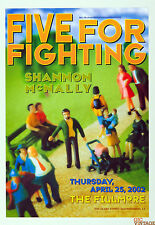 Five for Fighting Shanon McNally 2002 Apr 25 New Fillmore F518 Poster