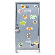 School Locker Bank And Padlock Decorate With Stickers