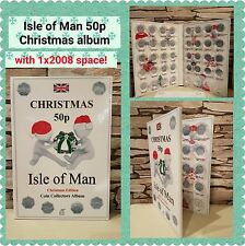 ISLE OF MAN 50p CHRISTMAS COIN ALBUM 1980-2020 - LIMITED EDITION with Mintage!