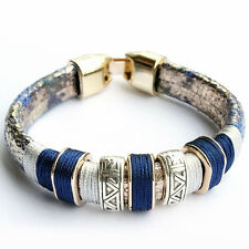 Newest Fashion Jewelry Tibetan 925 Silver Plated Women Party Bracelet Bangle