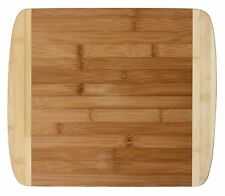 """Totally Bamboo 13"""" Cutting Board Chopping Serve 2-Tone Eco-Friendly Wood Durable"""