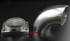 "T25 T28 GT25 GT28 Turbo Inlet To 2.5"" OD 90º  Elbow Stainless Steel Weld Adapter"