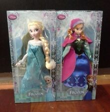 "Authentic Disney Store Frozen ELSA and ANNA 12"" Classic Doll Set 1st Generation"