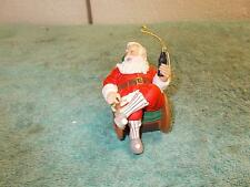 Vintage Coca-Cola Coke Collection 1997 Santa In Rocking Chair With Coke Bottle