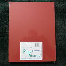 "80lb. ""Paper Accents"" Cayenne Card Stock 8.5"" x 11"" 25 Sheets Smooth Finish"