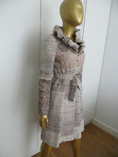 HARD TO FIND!12K EXQUISITE CHRISTIAN LACROIX LACE AND CROCHET PINK COAT!