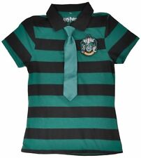 Slytherin Polo Shirt Tie Harry Potter Uniform Green Womens Authentic Medium Top