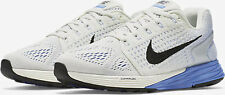 NIKE WOMEN LUNARGLIDE 7 RUNNING SHOES WHITE BLUE FLYKNIT SIZE 8.5 NEW 747356-104