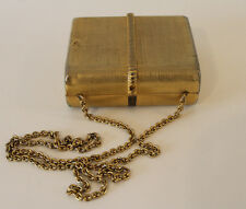 VINTAGE RODO ITALY Small Square Gold Metal Purse with Chain Strap