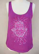 Pink Hamsa Tank Top Loose Fitting Hippie Clothing Boho Gift for Her Hand