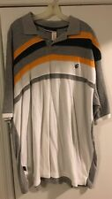 Rocawear white, orange and gray polo shirt men's size XXXL