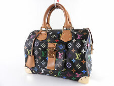 LOUIS VUITTON Speedy 30 Monogram Multicolor Black Boston Hand Bag M92642 A-4202
