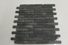 Sample black brickbone basalte mur de pierre floor tiles