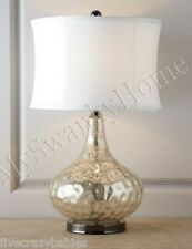 Contemporary MODERN SILVER Water Glass NEIMAN MARCUS Table Lamp Horchow Vizzini
