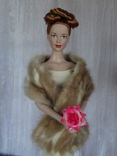 "AllforDoll mottled MINK Fur BOA WRAP for 16"" Tonner Tyler Sybarite Ficon Dolls"