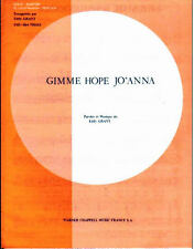 Partition sheet music EDDY GRANT : Gimme Hope Jo'Anna * 80's EQUALS