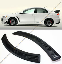 Evo 10 Style Convertion Matt Black Fender Side Vent Cover For Lancer Evo 7 8 9