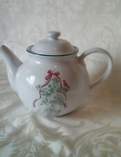 Corelle Coordinates Callaway Holiday Christmas Teapot ~ 1 Qt ~ Stoneware